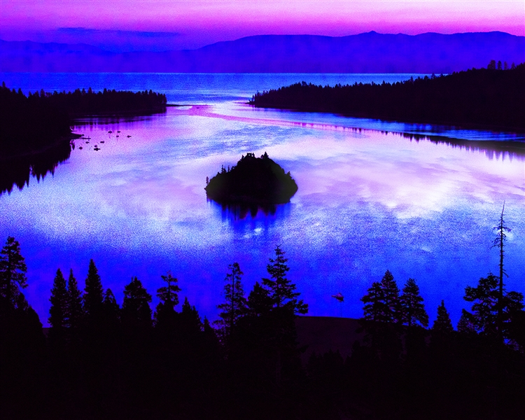 Emerald Bay and Moonscape Landscape giclee canvas by Don Schimmel