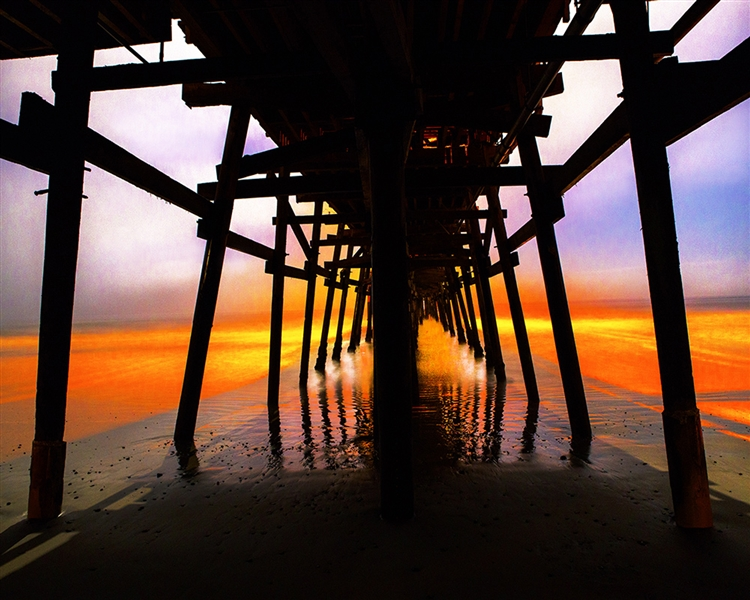 Lowtide - Pier at Sunset giclee canvas by Don Schimmel