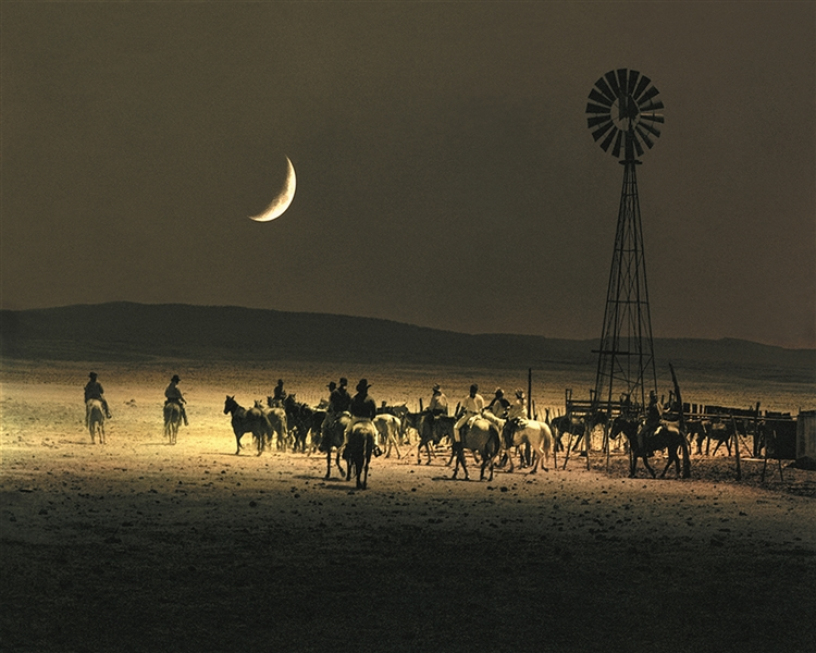 Under a Rustlers Moon giclee canvas by Don Schimmel