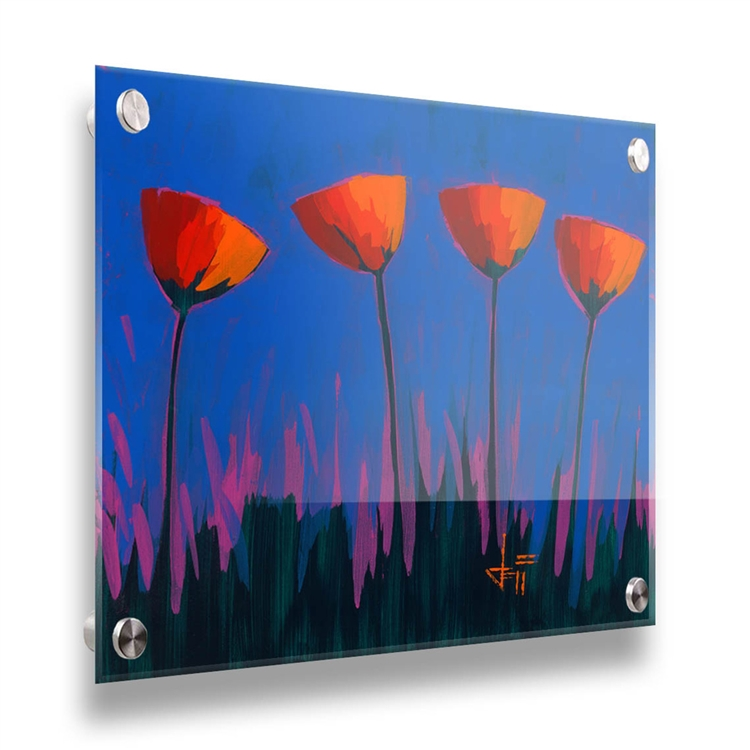 Sky High 30x30 contemporary floral acrylic image