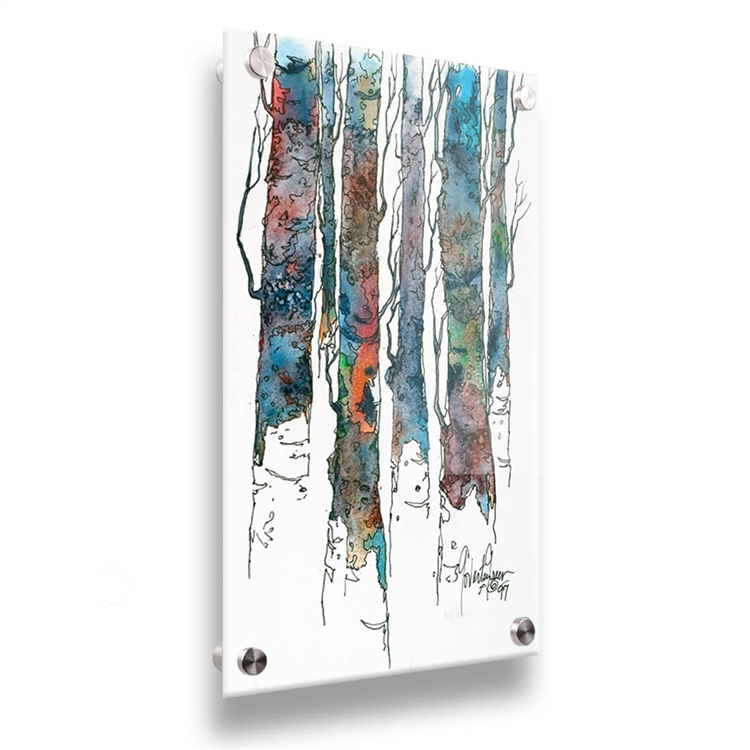 Birch II acrylic image by Cheri Greer