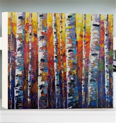 Birchliner - Birch Trees by Jeff Boutin - Box board wood decor