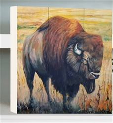 Kick up the Dust - Buffalo by Jeff Boutin - Box board wood decor