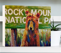 Rocky Mountain National Park - Bear by Jeff Boutin - Box board wood decor