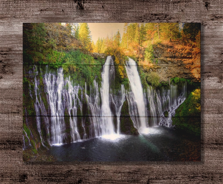 Burney Falls Box Wood Board by Kelly Wade