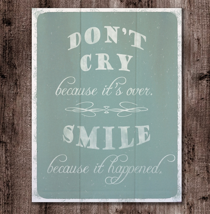 Don't Cry by Hal Halli 11x14 sign