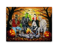 Monster Marshmallow Roast - Halloween Fun by Robert Andrea