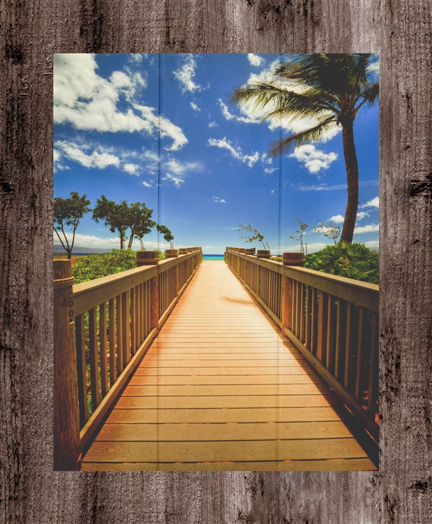 Maui Boardwalk Wood Sign by Kelly Wade