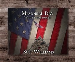 "Veterans ""We Will Not Forget"" Personalized Boxed Board"