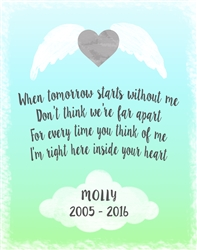 Personalized Pet memorial wall plaque 11x14