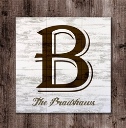 Personalized Monogram Name - Wood Sign