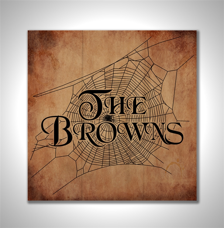 Personalized Spider Web Family Name - Wood Box Sign