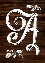 Personalized Christmas Monogram Letter - Wood Sign