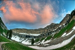 Hidden Lake Sunset Timpanogos UT