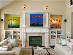 Have You Heard the Latest, Sky High and Symphony of Color by Jeff Boutin.  3 canvas collection set featuring Brushstroke Enhancements