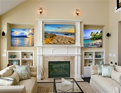 Hanelia Bay, Turtle Beach and Windansea Beach by Kelly Wade. 3 piece canvas gilcee set