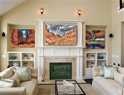 Hike With Me Arches NP Utah, Navajo-Loop-Switchbacks and The Subway zion by Scott Barlow. 3 piece canvas gilcee set