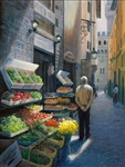 A Stroll in Florence 24x18 original oil painting on canvas