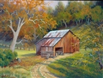 Barn on Crystal Springs Rd.  9x12 original oil painting on canvas