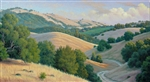 Bennet Valley Evening  24x48 original oil painting on canvas