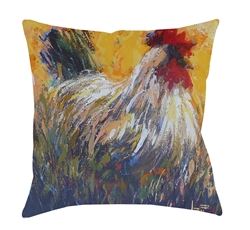 "14x14 ""Chanticleer"" Decorative Pillow by Jeff Boutin"