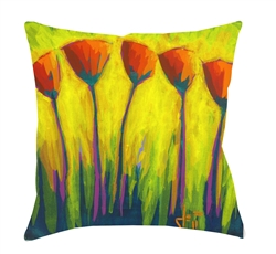 "14x14 ""Have you Heard the Latest"" Decorative Pillow by Jeff Boutin"