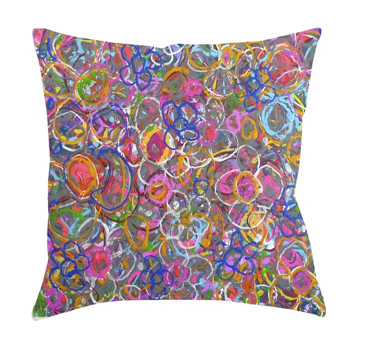 "14x14 ""Zippity do Dah"" Decorative Pillow by Jeff Boutin"