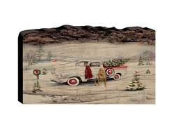 Seasons Solitude Christmas - Faux Split Log wood decor
