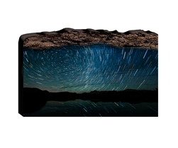 Watching the Stars Go Around - Faux Split Log wood decor