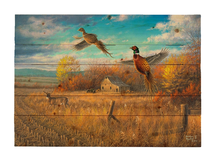 Farmland Sanctuary by Abraham Hunter, Decorative Wood wall plaque