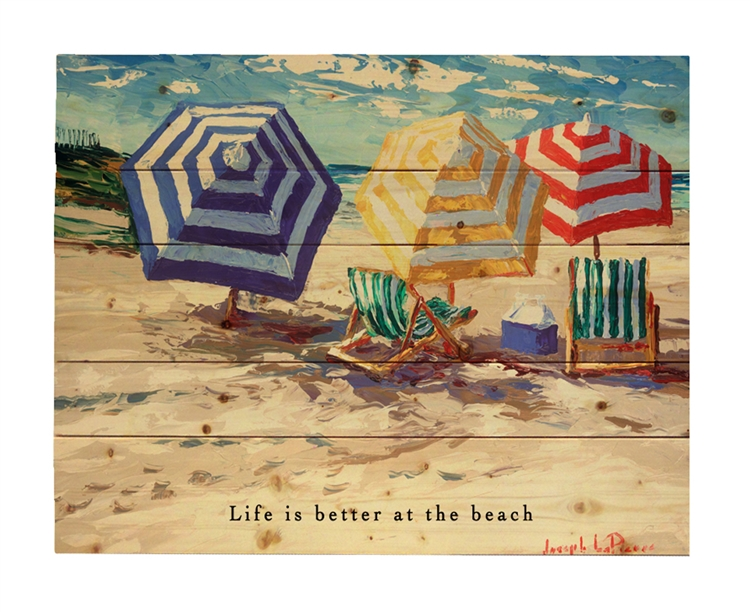 "Spring Beach wood pallet - featuring ""Life is better at the Beach"""