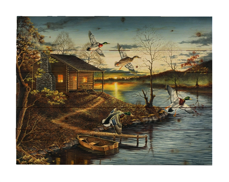 Autumn Retreat by Abraham Hunter, Decorative Wood wall plaque