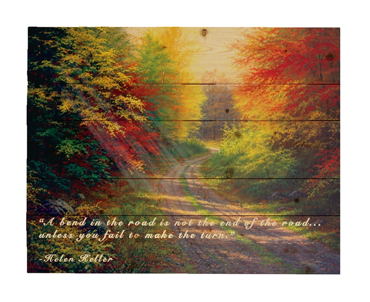 October Light Wood pallet by Charles White-With Helen Keller quote