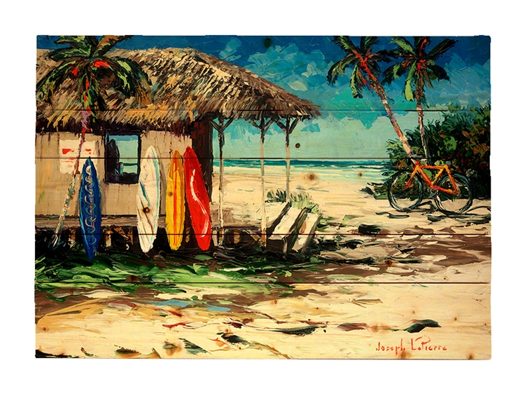 Surf Hut Wood pallet by Joseph LaPierre