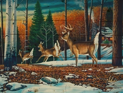 The Lost Buckhorn - Deer wood home decor By Robert Andrea