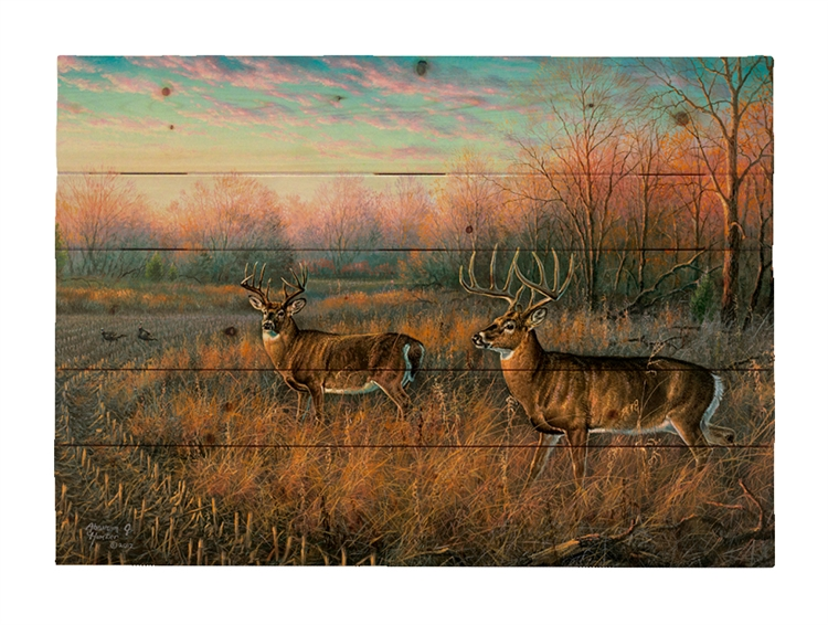 Frosty Dawn by Abraham Hunter, Decorative Wood wall plaque