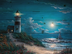 Night Watch Lighthouse by Kyle Wood - Wood pallet