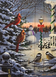 Holiday Friends - Christmas scene by Robert Andrea wood decor