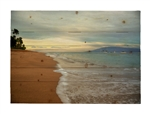 Ka'anapali Sunrise Hawaiian Islands Wood pallet by Kelly Wade