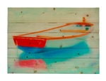 Red, White and Blue Adrift Wood pallet by Hal Halli