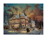 Christmas at Great Grandpa's by Keith Brown Decorative Wood wall plaque