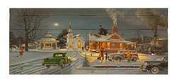 Home for Christmas by Keith Brown Decorative Wood wall plaque