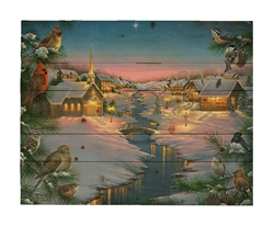 A Silent Night by Abraham Hunter Decorative Wood wall plaque