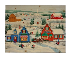 Wintertime in Sugar Creek by Wilfred Limvelanzia Decorative Wood wall plaque