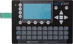 9001070-1 AIS keyboard foil for old Nauticast AIS