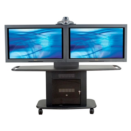 "Avteq GMP-200L-TT-2 32"" Up to Dual 52"" Display Cart"