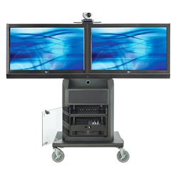 "Avteq RPS-800L Dual 32"" to 52"" Display Cart"