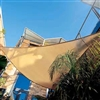08' Triangle Sun Sail Shade - Sandy Beach
