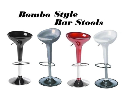 Bombo Modern Contemporary Adjustable Bar Stool - Set of 2