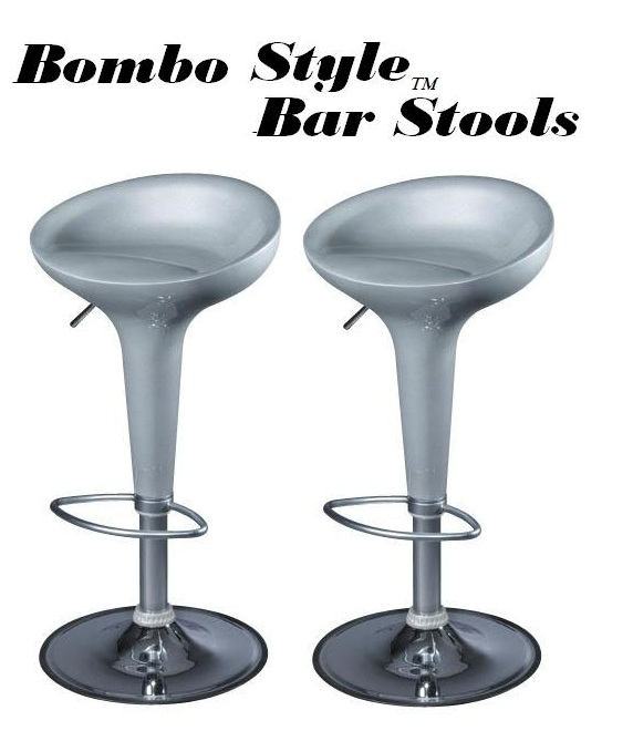 Awesome Bombo Modern Contemporary Adjustable Bar Stool Set Of 2 Ibusinesslaw Wood Chair Design Ideas Ibusinesslaworg